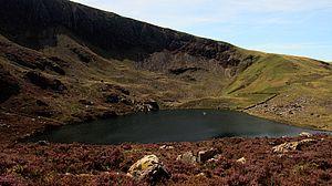 Llynnau Cwm Silyn corrie lake