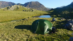 Pitch on Y Lliwedd east ridge
