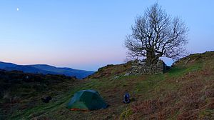 Dawn sky at tent pitch